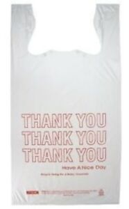 Jumbo T shirt Thank You Bags 18 x8 x28 Heavy Duty 300s