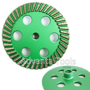 6 Turbo Diamond Cup Wheel 30 40 Grit For Granite Hard Concrete Grinding 5 8 11