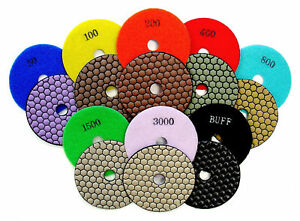 4 Dry Diamond Polishing Pads For Granite Marble Stone 8pcs Set