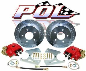 Gm 10 12 Bolt Rear Disc Brake Conversion Kit 68 74 Chevy Nova Upgrades