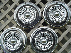 Vintage 1958 Chrysler New Yorker Fifth Ave Hubcaps Wheel Covers Dodge Plymouth