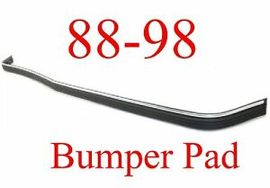 88 98 Chevy Gmc Front Bumper Pad Strip W Chrome Impact Strip Truck Tahoe Yukon
