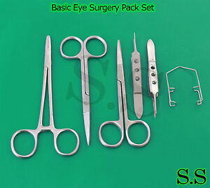 Basic Eye Surgery Pack Of 6 Ophthalmic Micro Instrument