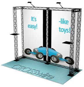 Crosswire Exhibits 10x10 Booth Display Trade Show Pop up