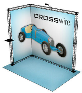 Crosswire Exhibits 10x8 Booth Display Trade Show Pop up