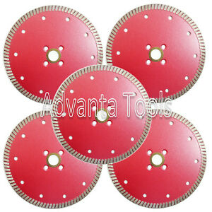 5 Pk 6 Premium Dry Cut Granite Turbo Diamond Saw Blade