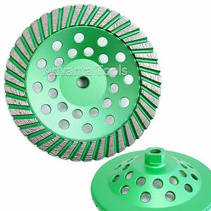 7 Turbo Diamond Cup Wheel 30 40 Grit For Granite Hard Concrete Grinding 5 8 11