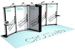 10x20 Trade Show Display Ces Show Crosswire Exhibits Truss 10x10 10x30 20x20
