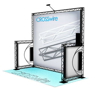 Crosswire Exhibits 10x10 Booth Trade Show Display Pop up Portable X 10 X 15 X 20