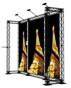 Crosswire Exhibits 10x10 Booth Display Trade Show Pop up Banner Stand
