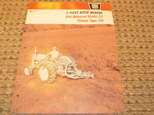 Oliver Tractor No 351 356 3 Point Hitch Mowers Dealer s Brochure
