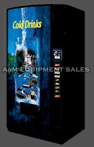 Dixie Narco 501e Drink Soda Vending Machine Accepts Cans Bottles Flat Front