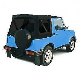 1986 1994 Soft Top Tinted Windows Black 98635 For Suzuki Samurai