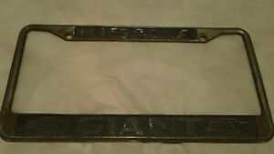 Visalia Ca Chevrolet Dealership License Plate Frame Tag Embossed Holder Metal