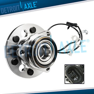 New Front Wheel Hub And Bearing Assembly For Gmc Chevrolet 4wd 6 Bolt W Abs