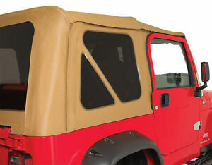 New Spice 3 Tinted Windows 2 Year Warranty 1997 2006 Soft Top For Jeep Wrangler