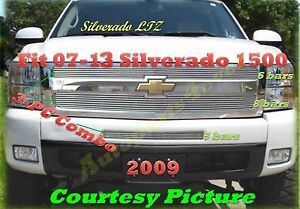 2007 2013 07 13 08 09 2011 Chevy Silverado 1500 New Billet Grille 3pc 2012 2013