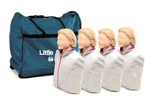New 4 Pk Cpr aed Laerdal Little Anne Manikin Soft Pack Training Mat light Skin