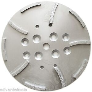 10 Diamond Grinding Disc Head For Edco Blastrac Concrete Grinder 10 Segments
