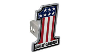Harley Davidson Number 1 American Flag Trailer Tow Hitch Cover Plug