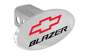 Chevy Blazer Emblem W Red Bowtie Block Letters Hitch Cover