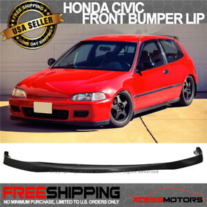 Fit Sir Si R 92 95 Civic 2 3dr Eg Urethane Front Bumper Lip Spoiler Bodykit