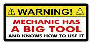 Funny Toolbox Sticker Mechanic Has Big Tool Knows How To Use It On Mac Snap
