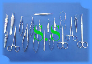 20 Pc Eye Micro Minor Surgery Opthalmic Instrument Set Ey 036