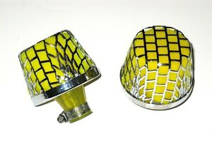 2 X R Tec 9mm Inlet Crank Case Breather Filter Air Inx Style Yellow Universal