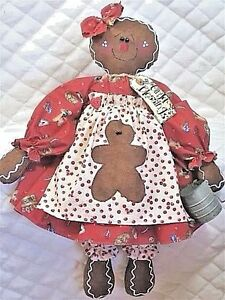 Primitive Raggedy Gingerbread Doll Pattern 31 By Ginger Creek Crossing