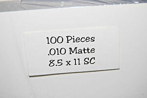 200 Pack Of 10mil Matte 8 5 X 11 Presentation Covers s3763