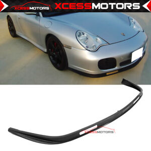 Fit Porsche 996 911 Turbo Carrera 4 4s Front Bumper Lip Spoiler Pu Bodykit