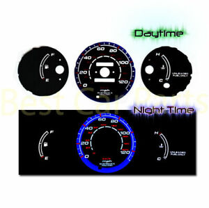 Black 96 00 Honda Civic Mt W O Tach Indiglo Glow Blue White El Reverse Gauges
