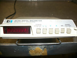 Hp 3476b Digital Multimeter