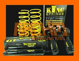 Vr Commodore V6 L Axle 30mm Low King Springs And Monroe Gt Sport Struts Shocks