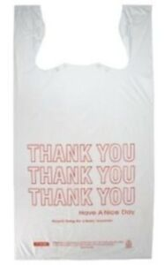 3000 Large 1 6 Bbl T shirt Thank You Shopping Grocery Bags 11 5 X 6 5 X 21