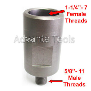 Core Drill Bit Adapter 5 8 11 Threaded Male To 1 1 4 7 Female