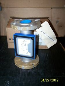 Penberthy Metal Tube Variable Area Flowmeter Flanged 316 Ss 10 To 100 Gpm