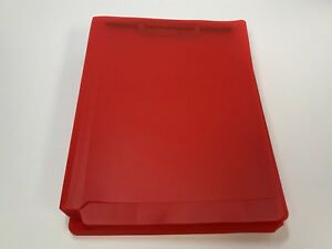 Poly Full Cut Folder With 2 Fasteners Red 25 box
