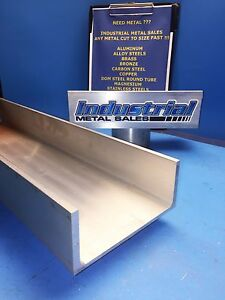 6061 T6 Aluminum Association Channel 6 X 210 X 3 1 4 X 36 long