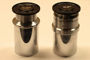 Pair Of Ernst Leitz Wetzlar A10 Microscope Eyepieces Great Condition
