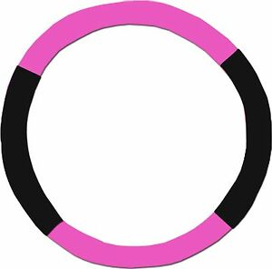 Hot Pink Black Steering Wheel Cover Like Seat Covers Or Choose Colors
