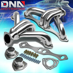 For Chevy Sbc Small Block Hugger Shorty Stainless Steel Header Manifold exhaust