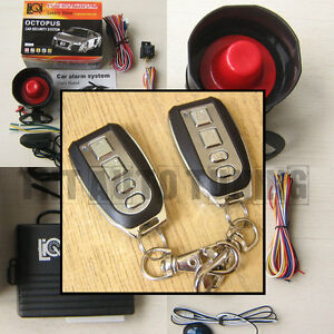 Car Alarm Security System Remote Central Locking Kit Shock Sensor Immobiliser