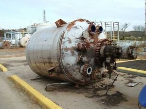 2000 Gallon Glass Lined Tank Reactor 90 Psi Jacket At 400f W 15 Hp Mixer In Sc