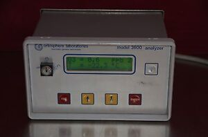 Orbisphere Laboratories 3600 Oxygen Ozone Hydrogen Analyzer Model 3600 320 e