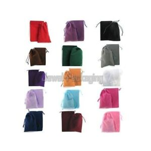 200 Velvet Square Pouches Jewelry Gift Bags 4 X 6 Colour Choice