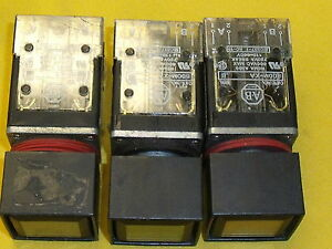 671 Allen Bradley Push Button Switches 1 Red Stop And 2 Green Start all 3 Sale