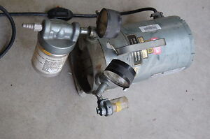 Gast Fisher Vacuum Pump Oilless 1 3 Hp Laboratory Lab Air Compressor