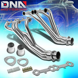 Stainless Steel Long Tube Header For 84 91 Gmt C k 5 0 5 7 Sbc Exhaust manifold